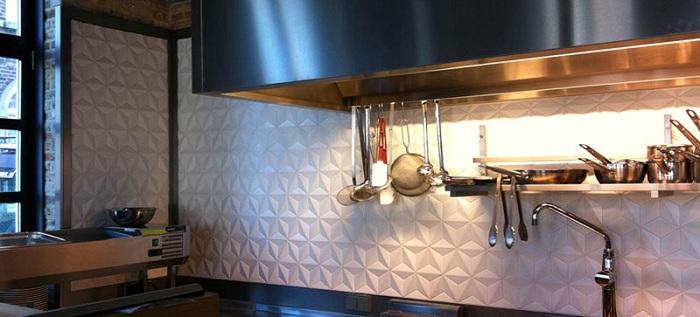 3d плитка в интерьере кухни