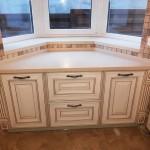 Модель Стреза. Фасад - МДФ крашеный, патинированный золотом. Кухню заказать в Киеве купить.