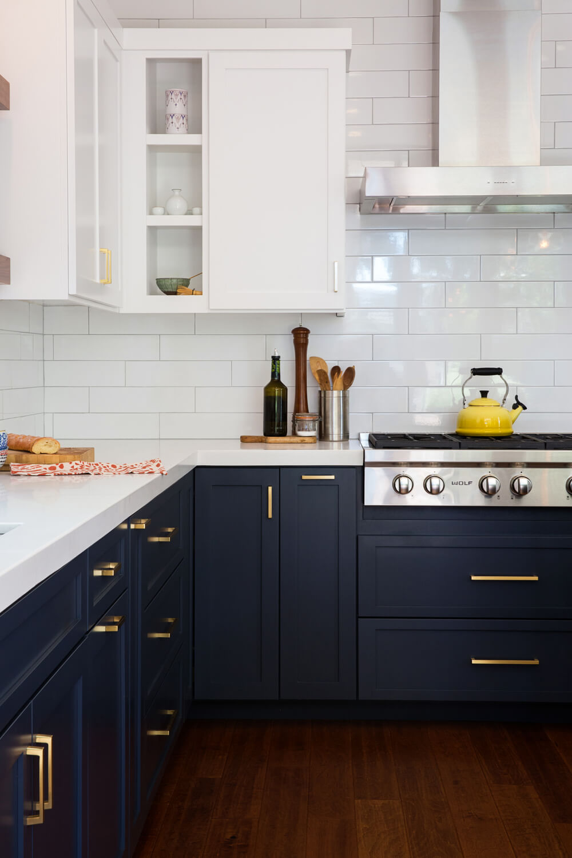 сочетание цветов кухонных шкафов