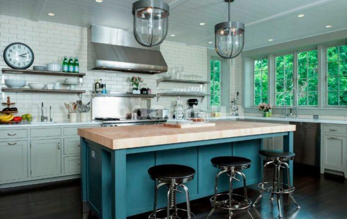 плюсы и минусы кухни без навесных шкафов