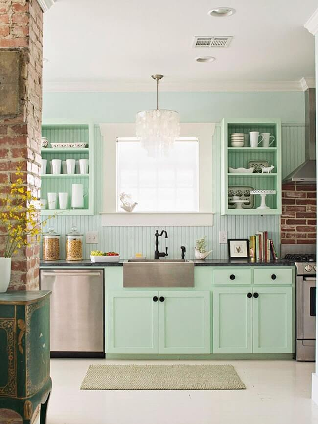 кухня зеленого цвета - Рода