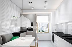 Дизайн узких кухонь