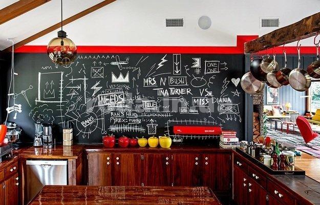идея как оформить кухонный фартук на кухне