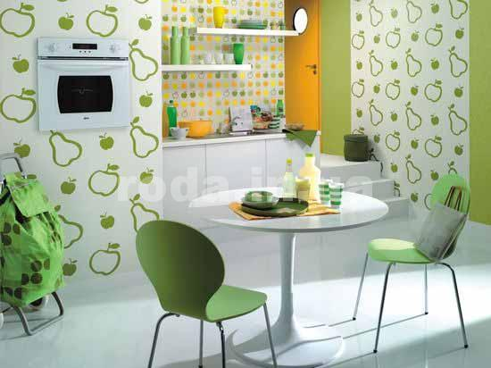 Флизелиновые обои на кухне