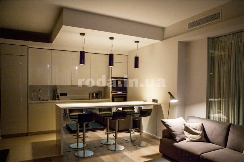 Кухни минимализм потолок