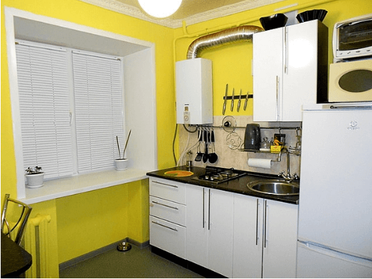 Как обустроить газовую трубу на кухне