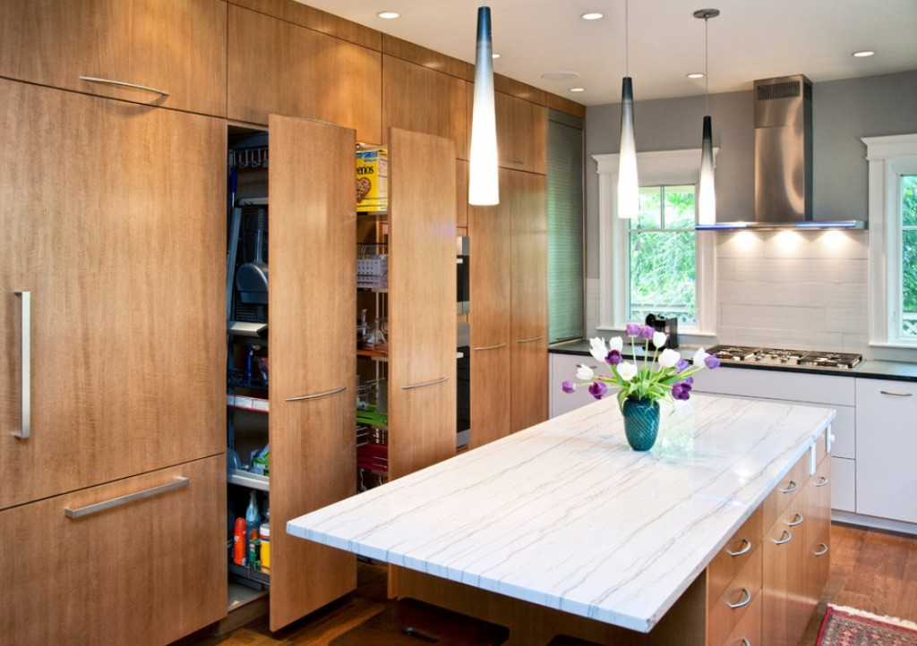 оригинальные идеи для шкафов на кухне
