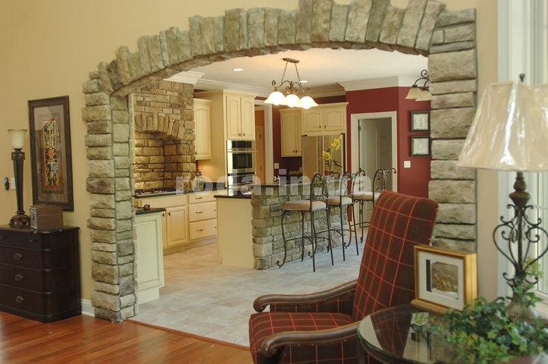 Отделка арки на кухне
