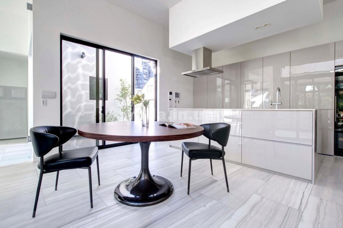 Стиль хай-тек простая кухня