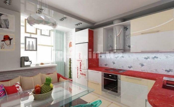 преимущества совмещенной с балконом кухни