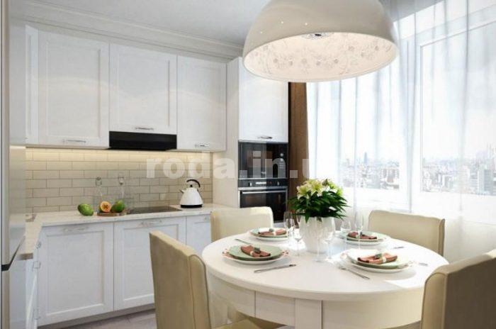 особенности оформления кухни, совмещенной с балконом