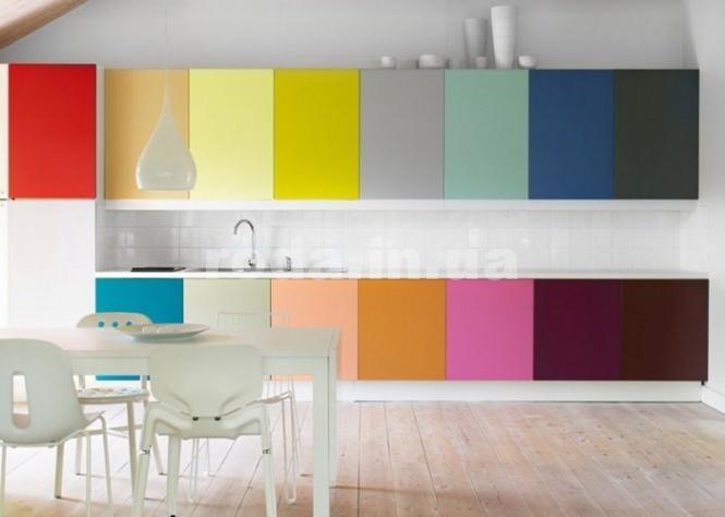 Яркие цвета на кухни